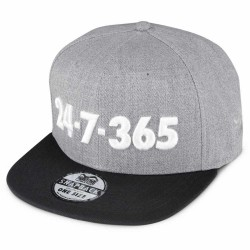 Phantom Athletics Cap 24 7 365 Grey Black