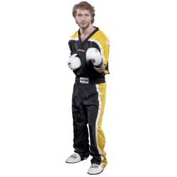 Top Ten Kickboxjacke Mesh T-Shirt Schwarz Gelb
