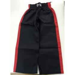 Kick-Boxhose Stripe Schwarz Rot