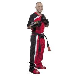 Top Ten Kickboxjacke Mesh T-Shirt Rot Schwarz