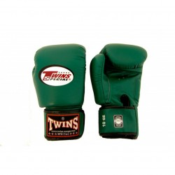 Twins BGVL 3 Boxing Gloves Green Leather