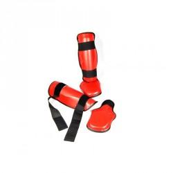 Phoenix Schienbein Und Spannschutz PU Rot