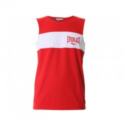 Everlast Competition Contrast Boxing Top Red White 4424A