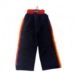 Kick-Boxhose Schwarz Rot Gelb