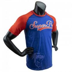 Super Pro Sublimation Challenger T-Shirt Blue Red White Kids