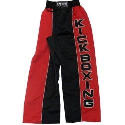 Kickboxing Kick-Boxhose Rot Schwarz Weiss