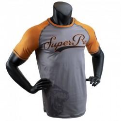 Super Pro Sublimation Challenger T-Shirt Grey Orange Black