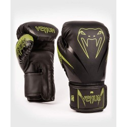 Venum Impact Boxhandschuhe Black Neo Yellow