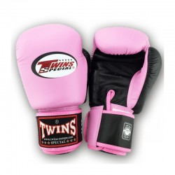 Twins BGVL 3 Boxing Gloves Pink Black Leather