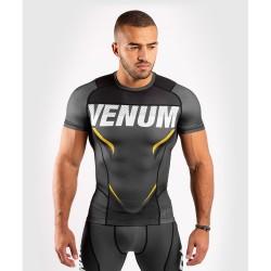 Venum One FC Impact Rashguard SS Grey Yellow