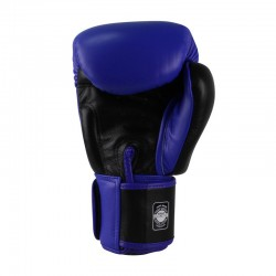 Twins BGVL 3 Boxing Gloves Retro Blue Black Leather