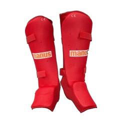 Manus K1 Thaiboxen MMA Schienbeinschutz Rot