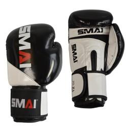 Smai Boxhandschuhe PU Schwarz Weiss