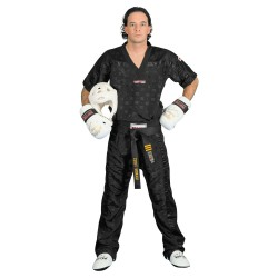 Top Ten Kickboxjacke Mesh T-Shirt Schwarz Schwarz