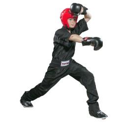 Top Ten Mesh Kickboxhose Schwarz Schwarz Kids