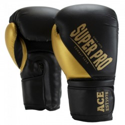 Super Pro ACE Boxhandschuhe Black Gold