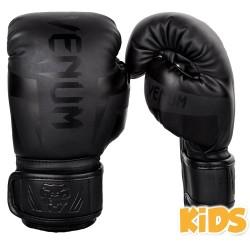 Venum Elite Boxhandschuhe Kids Matte Black