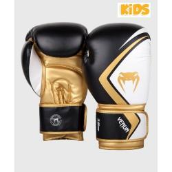 Venum Contender 2.0 Boxhandschuhe Kids Black White Gold