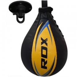 RDX Speedball Leder mit Drehgelenk gelb blau