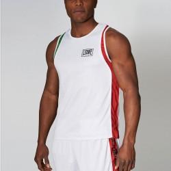 Leone 1947 Boxerhemd Italia weiss