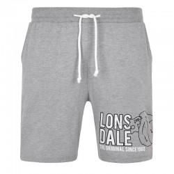 Lonsdale Didcot Herren Jersey Short Marl Grey