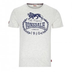 Abverkauf Lonsdale Ollie Herren Regular Fit T-Shirt Marl Stone