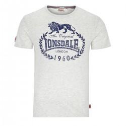 Lonsdale Ollie Herren Regular Fit T-Shirt Marl Stone