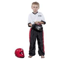 Top Ten Classic Kickboxhose Schwarz Rot Kids