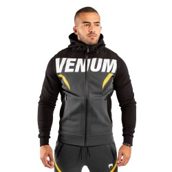 Venum One Fc Impact Hoodie Grey Yellow