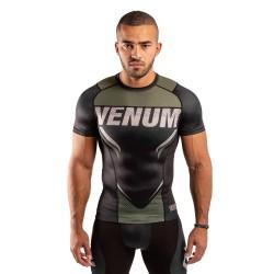 Venum One Fc Impact Rashguard SS Black Khaki