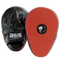 Super Pro Flat Hook and Jab Leder Black Red
