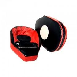 Handpratze Oval Schwarz Rot