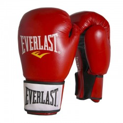 Abverkauf Everlast Moulded Foam Training Glove Leder Red 6000L