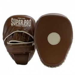 Super Pro Curved Hook and Jab Pad Leder Vintage