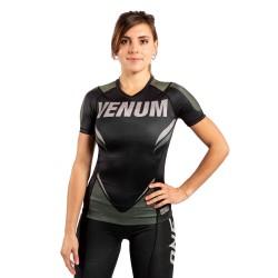 Venum One Fc Impact Rashguard SS Women Black Khaki
