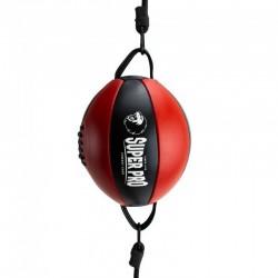 Super Pro Doppelendball Leder Black Red