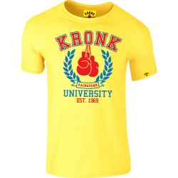 Kronk University Pain and Fame Slimfit T-Shirt Yellow