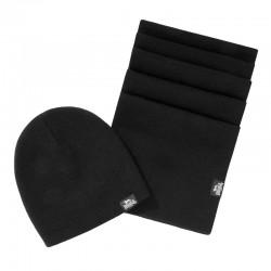 Lonsdale Leafield Schal und Mütze Set Black