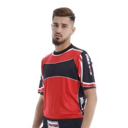 Top Ten Lycra T-Shirt Rot Schwarz
