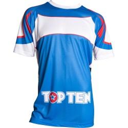 Top Ten Lycra T-Shirt Blau Weiss