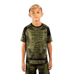 Venum Trooper Dry Tech T-Shirt Kids Forest Camo Black