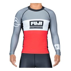 Fuji Franchise Rashguard Grey Red LS