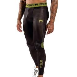 Venum Boxing Lab Compression Tights Black Green