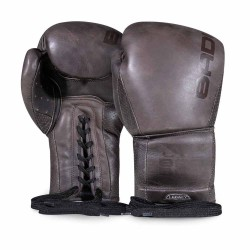 Bad Boy Legacy 2.0 Lace Up Boxing Gloves Brown