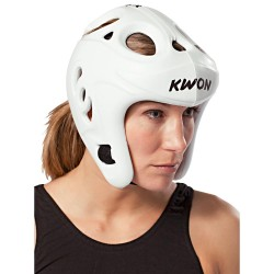 Kwon Shocklite Kopfschutz Weiss Wako