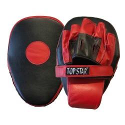 Handpratze Rot Schwarz Leder PU Gekrümmt