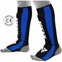 RDX Schienbein- Spannschutz NEO PRENE blau schwarz