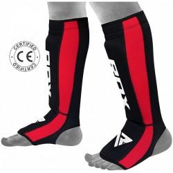 RDX Schienbein- Spannschutz NEO PRENE rot schwarz