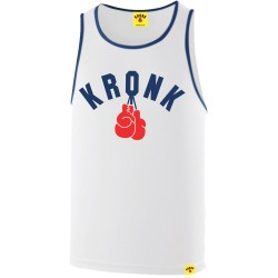 Kronk Two Colour Gloves Trainings Gym Vest White