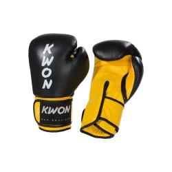 Kwon KO Champ Boxhandschuhe Schwarz Gelb